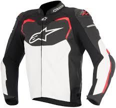 alpinestars gp pro leather jacket clothing jackets motorcycle black white red alpinestars clothing
