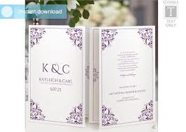 Booklet Program Template Wedding Program Template Foldover Booklet 2558579 Weddbook