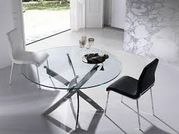 contemporary porto lujo round glass dining table various sizes opt