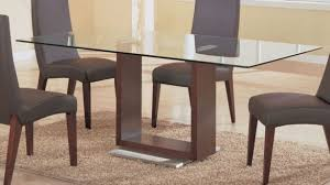 contemporary table base for glass top rectangular glass top dining table with wood base house plans