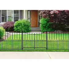 metal fence gate. Shop No Dig Powder-Coated Black Steel Fence Gate (Common: 36.6-in X 36.6-in; Actual: 50.4-in 50.4-in) At Lowes.com Metal