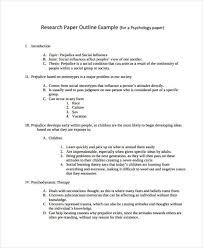 Outline Templates For Research Paper 22 Research Paper Templates In Pdf Free Premium Templates