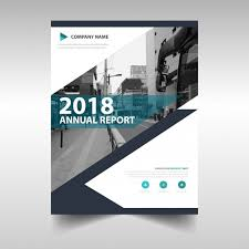 Annual Report Templates Free Download Creative Annual Report Book Cover Template Vector Free