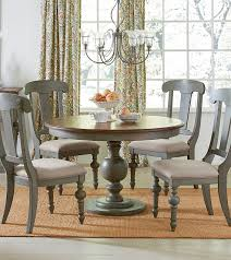 Colonnades Putty Oak Rubberwood Solids Mdf Round Dining Table The