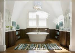 white and brown color combination with striped extra large bath rugs for traditional luxury bathroom ideas