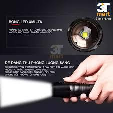 Đèn pin siêu sáng CMON POWER TACTICAL XML-T6 LED + Tặng 2 pin sạc li-ion  18650 (XANH LÁ)