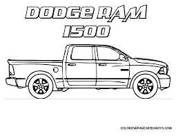 Truck Color Book Pages Truck Coloring