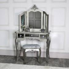 mirrored furniture. Ornate Mirrored 3 Drawer Dressing Table, Stool And Mirror Bedroom Furniture Set - Tiffany Range