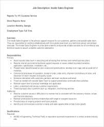 9+ Sales Engineer Job Description Samples | Sample Templates