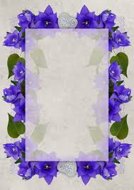 congratulations postcard romantic background lilac cobalt blue lavender petal picture frame flower arranging fl design violet family