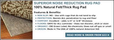 noise reduction felt rug pad