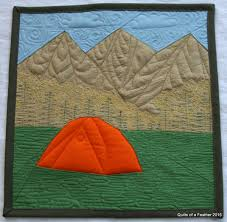 Quilts of a Feather: Mountain Camping Paper Pieced block: Fabri ... & Mountain Camping paper pieced quilt block: turned into a mini quilt! Adamdwight.com