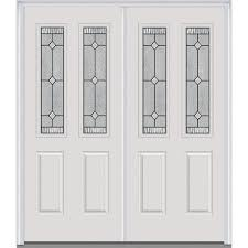 front double doors. 72 In. X 80 Carrollton Right-Hand Inswing 2-Lite Decorative Front Double Doors