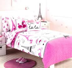 twin bedding set pink tower single measurement quilt cowl new size paris themed comforter home improvement