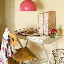 vintage office ideas. White Office Desk And Pink Lamp In Retro Style Vintage Ideas