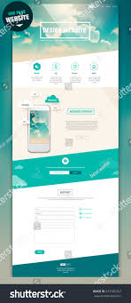 One Product Website Design One Page Website Design Stock Vector Royalty Free 213185257