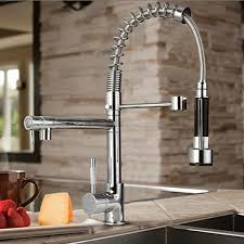 Restaurant Style Kitchen Faucets Bybar Chrome Modern Designer Single Handle Pull Out Spray Pre