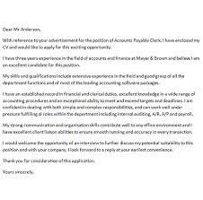 Cover Letter For Accounts Payable Clerk Icover Org Uk