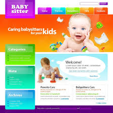 15 babysitter website templates sixthlifesixthlife