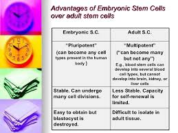 stem cell therapy advantages of embryonic stem cells