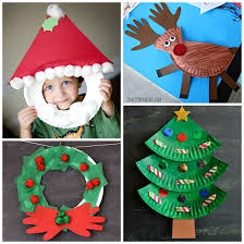 25 Easy Paper Plate Christmas Crafts For Kids  Artsy Craftsy MomChristmas Paper Plate Crafts