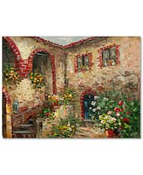 rio tuscany courtyard 24 x 32 canvas wall art on graham brown lavender sunset wall art with wall art home d cor macy s