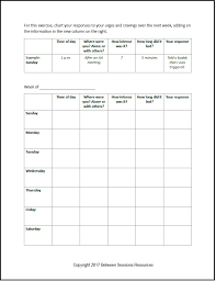 Between Sessions Addiction Therapy Worksheets | Addiction Recovery ...