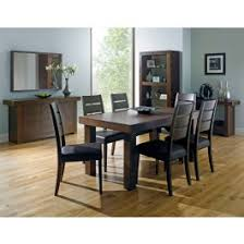 bentley designs akita walnut 4 6 end extending dining table slatted chairs