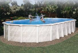 Above ground swimming pool Concrete Picture Of Deluxe Summer Serenade Above Ground Pool Packages Poolstorecom Deluxe Summer Serenade Above Ground Swimming Pool Poolstorecom