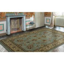 ottomanson traditional oriental light blue 8 ft x 10 ft area rug