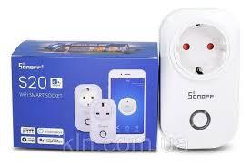 Умная <b>розетка</b> Wi-Fi <b>Sonoff</b> s20 с таймером и расписанием, цена ...