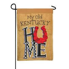 burlap my old cky home double applique garden flag