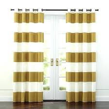rugby striped curtains gold and white orange stripe