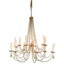 brushed platinum beaded chandelier