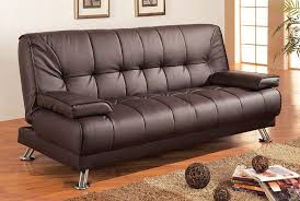 coaster futon sofa bed with removable arm rests 36 x 76 5 x 36 5 in