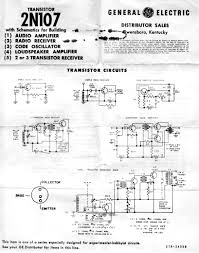 vintage data sheets for coils transformers and other tube era ge 2n107 transistor packing slip application schematics