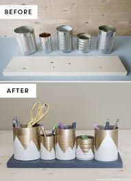 diy desk organizer ideas. Delighful Ideas DIY Desk Organizing Ideas  2Tin Can Organizer To Diy R