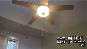 How To Replace The Light Chain On A Ceiling Fan Ceiling Fan Pull Chain Switches Not Working On Pass Through Glass Light Kit Maintenance Repair Video