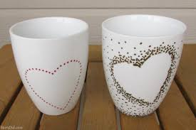diy craft project sharpie mug tutorial custom heart handle mugs that require no artistic