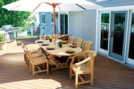 image of wood patio furniture contemporary