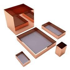 modern desk accessories set. Contemporary Accessories Modern Luxury Office Accessories Set Incl Trays Pencil Holder Paper  Basket For Sale On Desk I