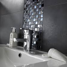 mosaic bathroom tiles. Marble \u0026 Glass Black Tiles Mosaic Bathroom I