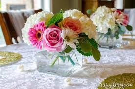 bridal shower and wedding shower table decor you can make yourself with fl arrangements