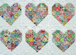 It's made up of two different heart patterns, separated by white ... & Emily's Heart Quilt Adamdwight.com