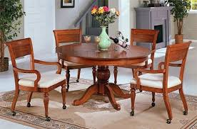 dinette sets chairs with casters. dining room chairs with glamorous table and wheels dinette sets casters