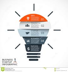 Vector Light Bulb Infographic Template For Circle Diagram