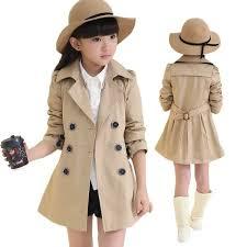 <b>Spring Autumn Girls Trench</b> Coats Fashion Kids Windbreaker Girl ...