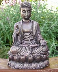 buddha garden statue.  Garden Chinese Buddha Statue With Antique Finish And Garden A