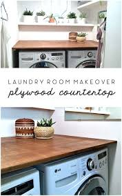 laundry room makeover diy plywood countertop the ugly