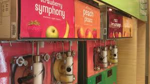 Automatic Smoothie Vending Machine Mesmerizing Selfserve Smoothie Machine Now Dispensing SelfServe Smoothies